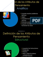 Deficinición de los 7 atributos de Emergenetics