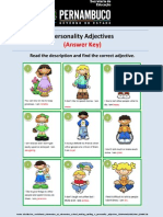Answer Ky Personality Adjectives