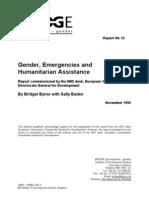 Bridge Report Gender and Emergencies