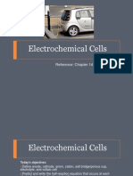 Voltaic and Electrolytic Cell Comparison