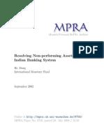 MPRA Paper 9758