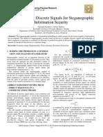 Use of Complex Discrete Signals for Steganographic Information Security