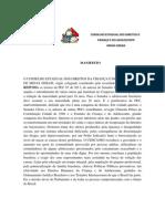 Cedca-mg, Manifesto Contra as Pecs