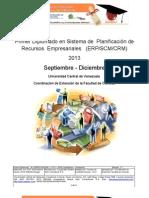 Diplomado en Sistema de  Planificación de  Recursos  Empresariales ERP CRM SCM