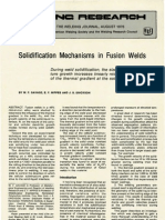 Solidification Mechanisms in Fusion Welds, Savage, Nippes, Erickson, WJ_1976