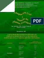 Adaptación, uso y manejo de Plantas Forrajeras