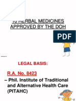 10 Herbal Medicines Approved by the DOH