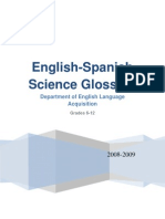 english-spanish science glossary dela