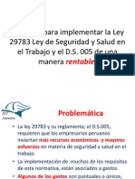 Ley 29783 consejos para una implementación económica