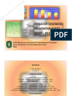 Indikator Kesehatan Kalbar 2007-2011