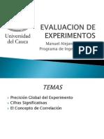 Evaluacion de Experimentos