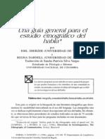Guía etnográfica para el estudio del habla, J. Sherzer