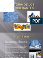Historia de Los Refrigerantes