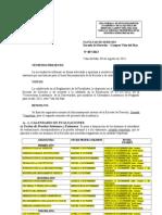 Resolución fecha de Evaluaciones 2013.20