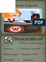 telephonic etiquettes
