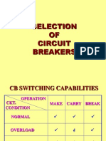 SELECTION OF CIRCUIT BREAKER
