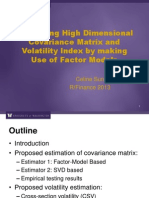 Estimating High Dimensional Covariance Matrices Using a Factor Model_Sun_2013_Slides