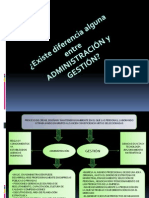 Diferencia Entre Administracion y Gestion Empresarial