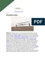 Historia Del Transporte Aereo