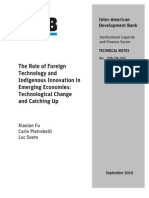 Fu - The Role of Foreign Technology and Indigenous Innovation