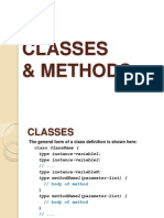 Classes&Methods in java