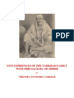 LIVE EXPRIENCES OF THE TARKHAD FAMILY WITH SHRI SAIBABA OF SHIRDI
