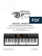 Virtual Piano Music Sheet Aug Sep