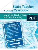 2012 State Teacher Policy Yearbook National Summary NCTQ Report
