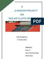 design project solar clothes dryer