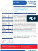 Equity Morning Note 14 August 2013-Mansukh Investment and Trading Solution