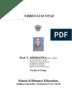 Prof v Simmanna
