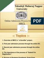 Presentation 1 - Online Admission Process (College Login)
