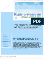 Hydro Heaven - HYDROPONICS 101 Hydroponic gardens are not new by any means.