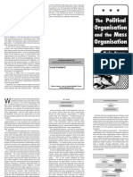 Leaflet the Political Organisation and the Mass Organisation