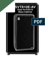 Ampeg SVT810E-AV Dual 4x10-8x10 Bass Cabinet