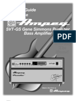 Ampeg SVT-GS Gene Simmons Punisher Bass Amp Owner's Guide