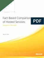 Hosted Services Comparison Whitepaper - Google vs Microsoft