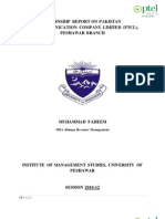 Internship Report Ptcl
