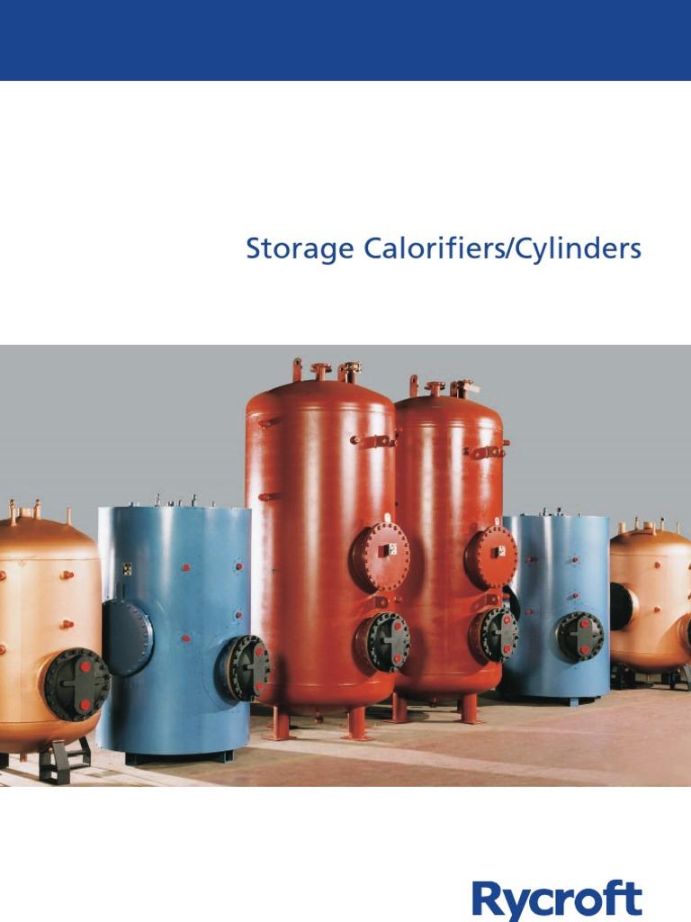 Rycroft Calorifier Catalogue Water Heating Heat Exchanger