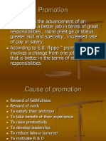 Promotion, Demotion, Transfer