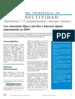 Informe Conectividad Colombia Marzo09