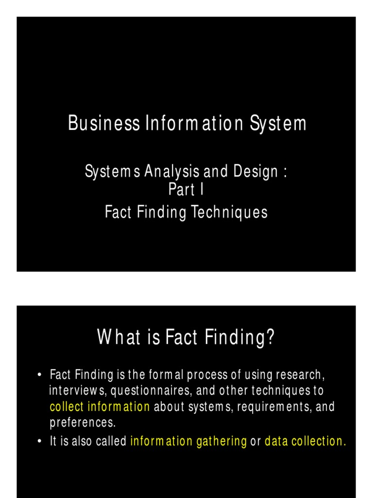 Microsoft Powerpoint 8 Fact Finding Techniques Intelligence Analysis Observation
