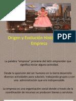 Origen y Evolución Histórica de la Empresa
