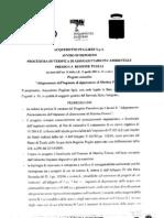 Richiesta procedura VIA impianto di depurazione a Martina Franca