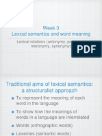 Lexical Semantics Week 4