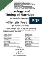 Book. Timing of Marriage-Half Hindi-KN Rao Students