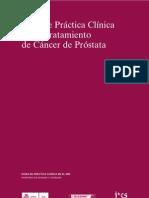 Guía práctica clínica sobre tratamiento de cáncer de próstata