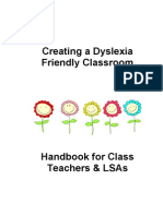 Creating a Dyslexia Friendly Classroom Booklet JC
