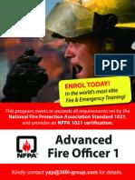 Advanced Fire Officer 1