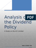 Analysis of Dividend Policy